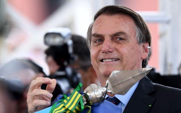 """""""Mándale un beso de mi parte"""", dijo Bolsonaro en declaraciones. Foto: AFP"""
