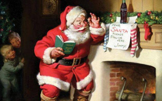 La imagen de Papá Noel que Coca Cola ha popularizado mundialmente.