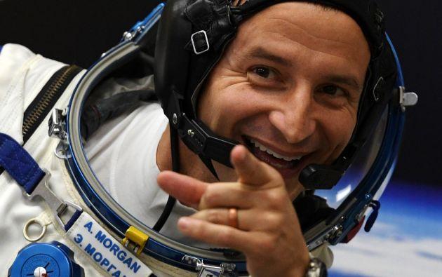 El astronauta estadounidense Andrew Morgan señaló la ubicación de Papá Noel desde el espacio. Foto: AFP.