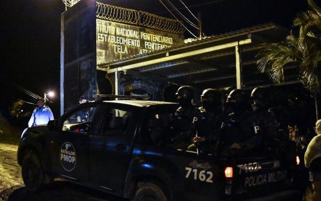 El tiroteo se produjo entre reclusos del centro penal de Tela, Atlántida, el 20 de diciembre. Foto: AFP.