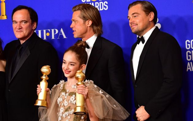 """""""Había una vez en Hollywood"""" cerró con tres estatuillas, incluida la de mejor comedia y mejor actor de reparto para Brad Pitt. Foto: AFP"""