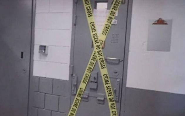 Asi lucía el exterior del calabozo donde Epstein se habría suicidado. | Fotos: Programa 60 Minutos