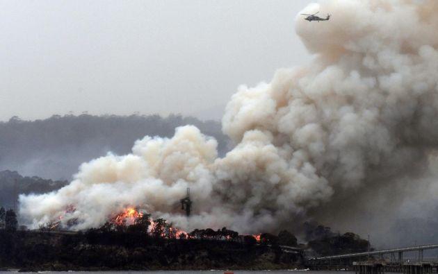 """Los fuegos en Australia """"están causando una enorme destrucción"""". Foto: AFP"""
