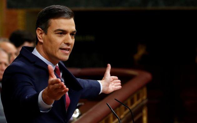 En el poder desde junio de 2018, el líder del PSOE obtuvo 167 votos a favor. Foto: Reuters