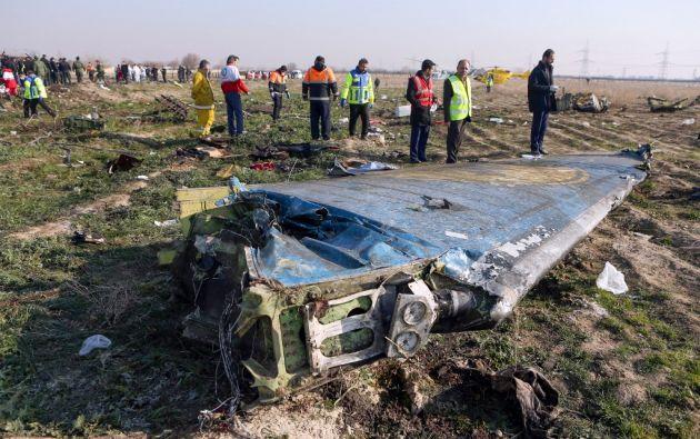 La colisión del aparato vino acompañada de una fuerte explosión. Foto: AFP