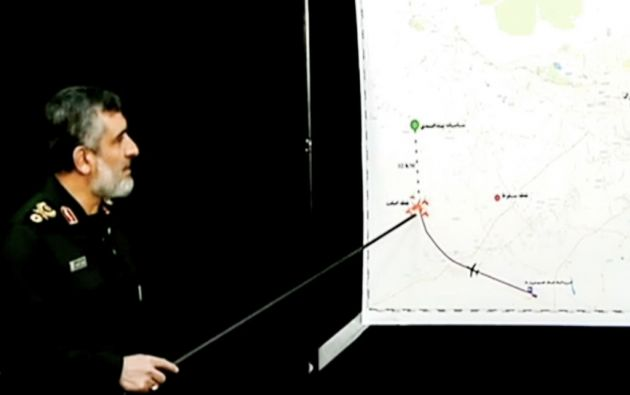 """""""Asumo la total responsabilidad"""", dijo Hajizadeh, comandante de los Guardianes de la Revolución iraní. Foto: AFP"""