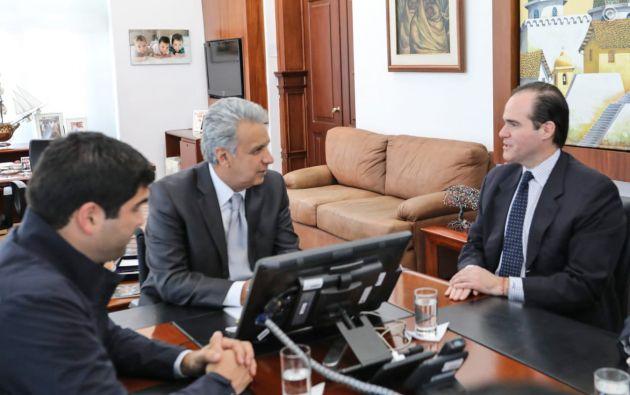 """""""Fortalecemos las relaciones económicas y de cooperación binacional"""", dijo Moreno."""