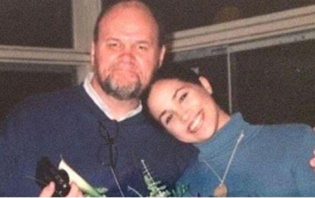 Thomas Markle junto a su hija Meghan Markle.