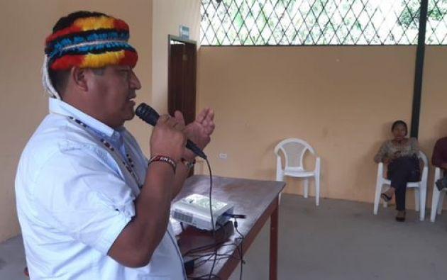 """Jaime Vargas dijo que la Conaie analiza presentar una """"demanda única en nombre de los pueblos y nacionalidades"""" contra el Gobierno. Foto: Conaie."""