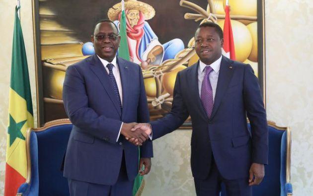 El presidente de Senegal, Macky Sall, y el de Togo, Faure Gnassingbe.