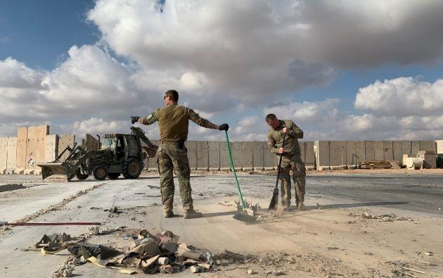 La base atacada, situada en la provincia de Anbar, es una de las más grandes de Irak. Foto: AFP