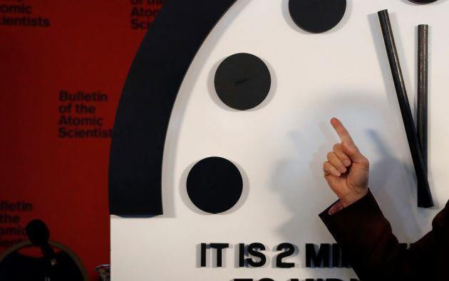 Científicos Atómicos mueven las manecillas del Reloj del Juicio Final cerca de la medianoche. Foto: Reuters