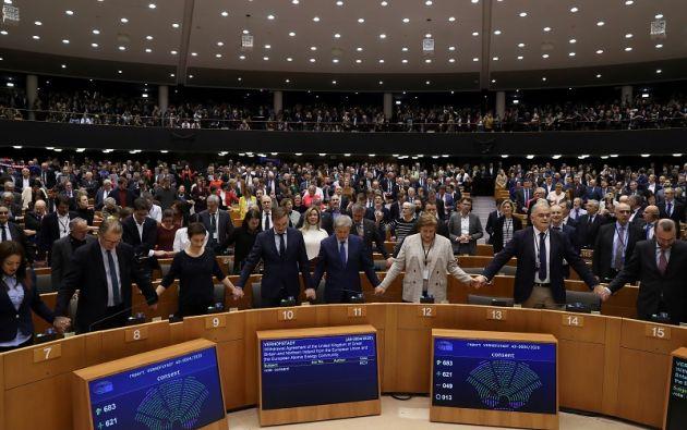 Los 47 años del Reino Unido en la UE acabarán en la medianoche del 31 de enero al 1 de febrero. Foto: AFP