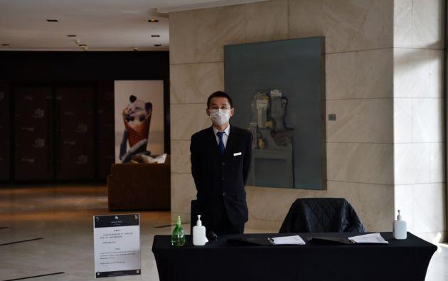 Solo veinte clientes se hospedan en el hotel cinco estrellas. Foto: AFP