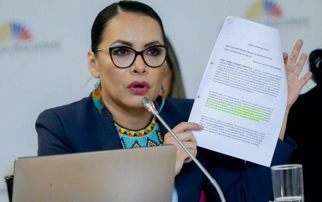 La solicitud de juicio contra la presidenta del CNE no reunió los votos necesarios.