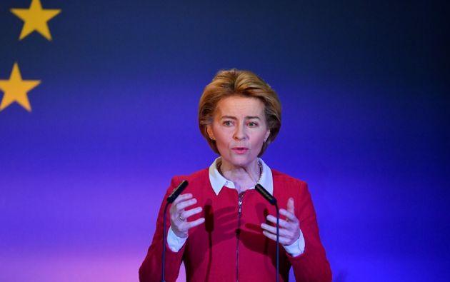 Ursula von der Leyen habla sobre el eterno amor de Reino Unido hacia la Unión Europea. Foto: AFP