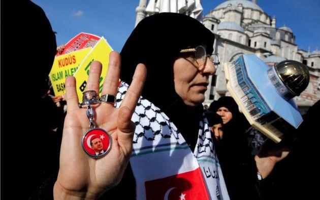 """Recep Tayyip Erdogan pidió al """"mundo cristiano"""" que haga frente a Trump. Foto: Reuters."""