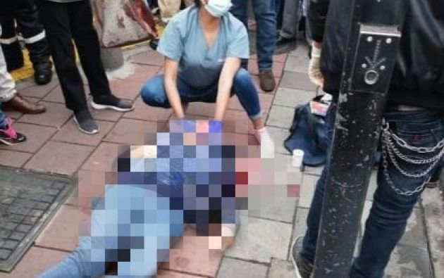Después de los disparos, el sospechoso subió a un taxi, en el que pretendía huir.