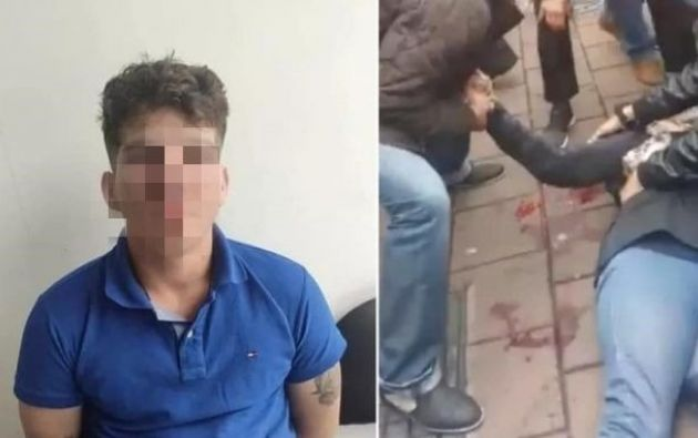 El sujeto, extranjero de 19 años, fue encontrado con un revolver, tres balas, tres casquillos y prendas de vestir.