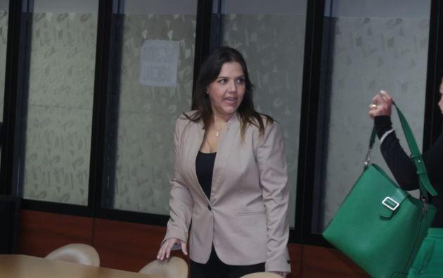 María Alejandra Vicuña fue condenada por un caso de cobro de diezmos a excolaboradores.
