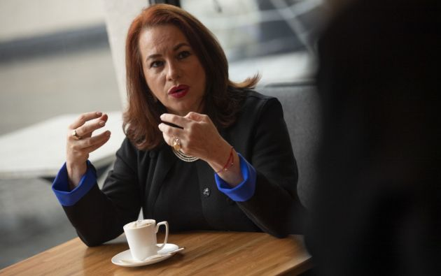 La candidatura de María Fernanda Espinosa fue presentada por Antigua y Barbuda y San Vicente y las Granadinas. Foto: AFP.