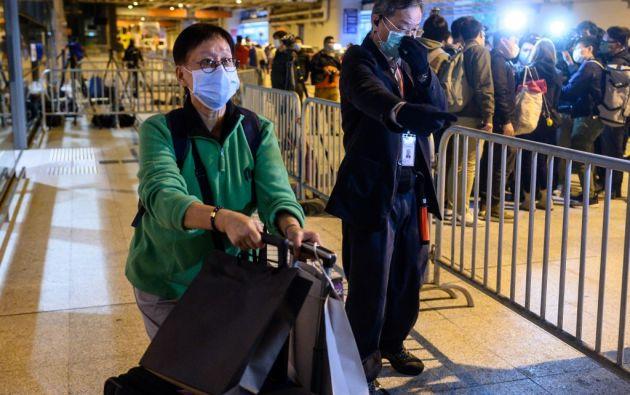 Hong Kong cerró sus fronteras debido al coronavirus. Foto: AFP.