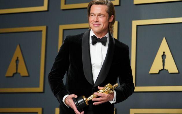 Brad Pitt logró su primer Óscar como actor. Foto: AFP.