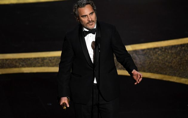 Joaquin Phoenix ganó su primer Óscar. Foto: AFP.