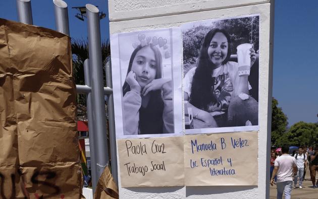 Ambas estudiantes, oriundas de Cimitarra (Santander), fueron asesinadas este viernes a manos de un hombre que sería la pareja sentimental de una de ellas. Foto: Twitter.
