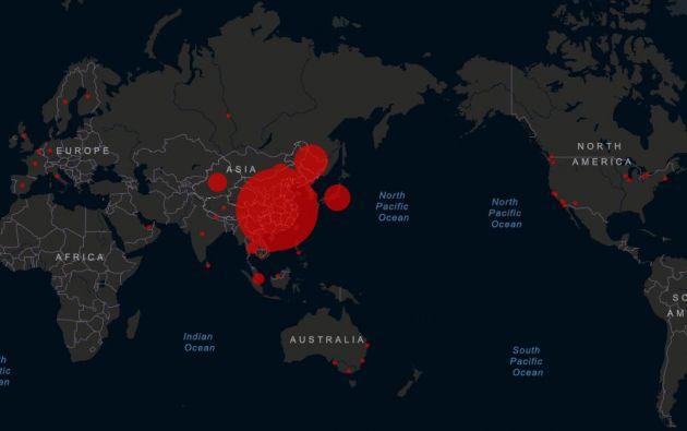 Hasta el momento no se han registrado casos de COVID-19 en América Latina y África.