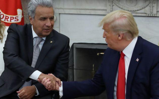 Moreno manifestó este lunes que el diálogo conducirá a un acuerdo comercial con EEUU. Foto: AFP.