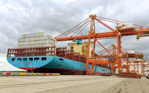 Existe demora en el ingreso y salida de los contenedores, según Fedexport. Foto: tomada de Autoridad Portuaria de Guayaquil