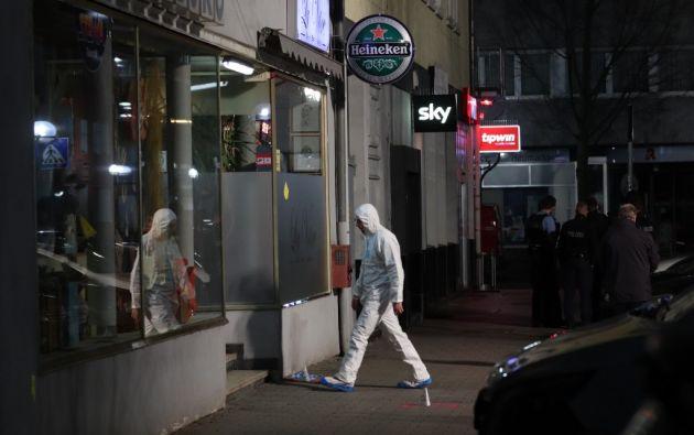 Uno de los bares que fue escenario del atentado con tintes xenófobos perpetrado por Tobias Rathjen. Foto: AFP.