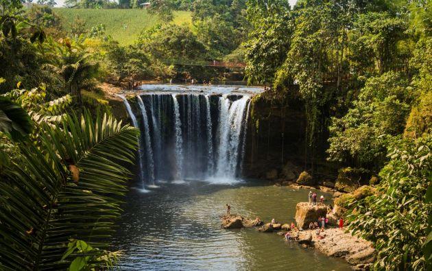 Las cascadas son otras de las alternativas turísticas, con sus balnearios de agua dulce, que posee Manabí. Foto: Gobierno Provincial de Manabí.