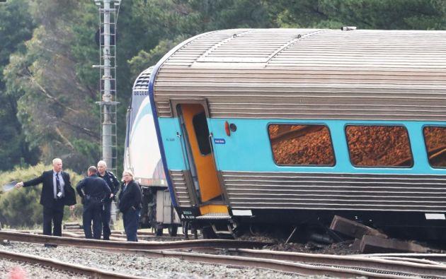 El tren llevaba a abordo 170 personas, de las cuales aún no se tienen un número determinado de heridos. Foto: Reuters.