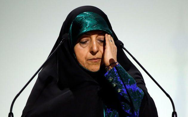 La vicepresidenta para Asuntos de la Mujer y de la Familia de Irán, Masumeh Ebtekar, está contagiada de coronavirus. Foto: Reuters.