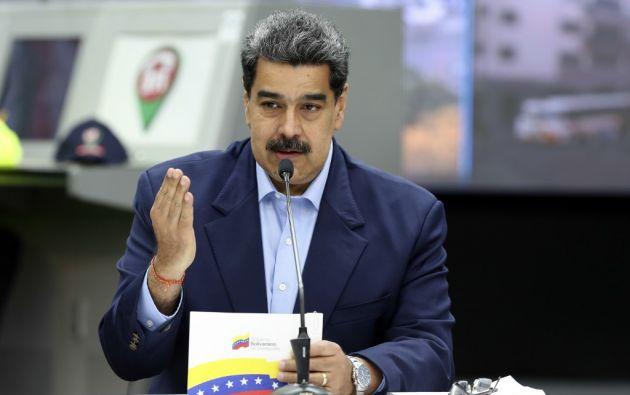 """""""Vamos a enfrentar esta amenaza, este virus y vamos a salir airosos"""", remarcó Maduro. Foto: AFP"""