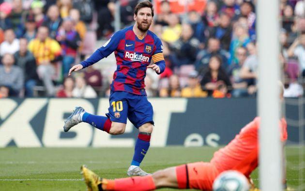 Lionel Messi jugando para el FC Barcelona. Foto: Reuters.