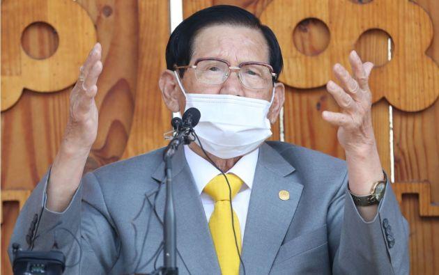 Lee Man-hee fundador de la secta Shincheonji en Corea del Sur. Foto:Reuters.