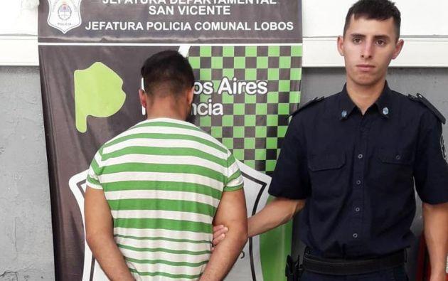 Olivera tras ser detenido por la Policía Bonaerense.