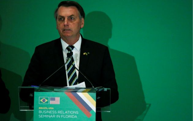Presidente de Brasil, Jair Bolsonaro. Foto: Reuters.