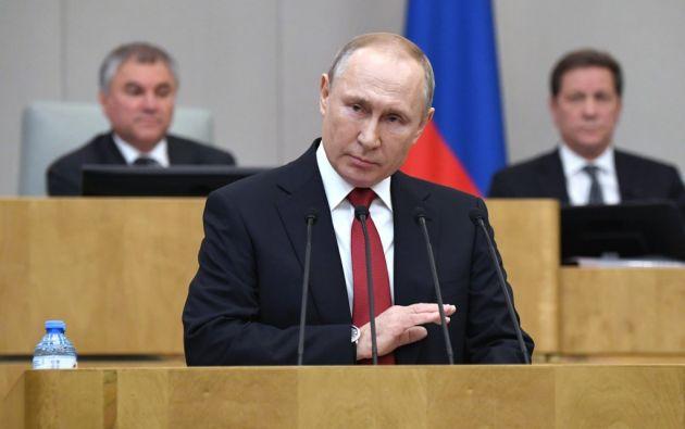 """Putin considera que un """"poder presidencial fuerte es absolutamente necesario en Rusia"""". Foto: AFP"""