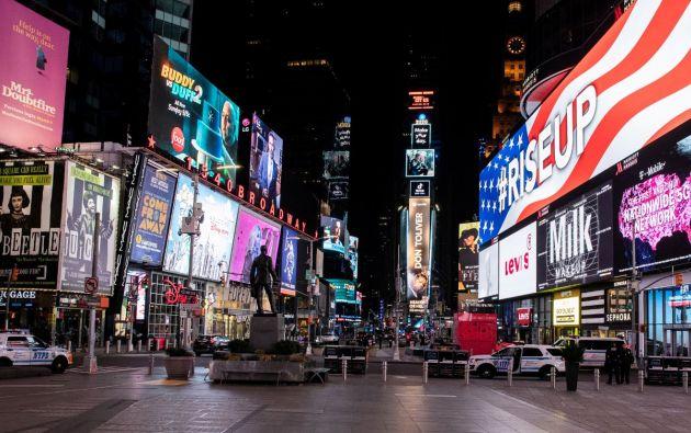 Times Square, Nueva York durante la pandemia del coronavirus. Foto: Reuters