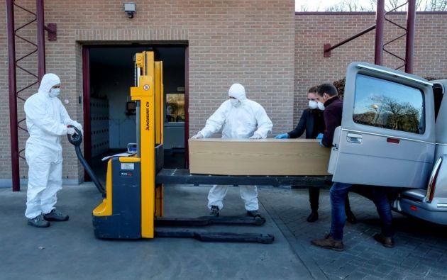 705 personas han fallecido en Bélgica a causa del coronavirus. Foto: AFP.