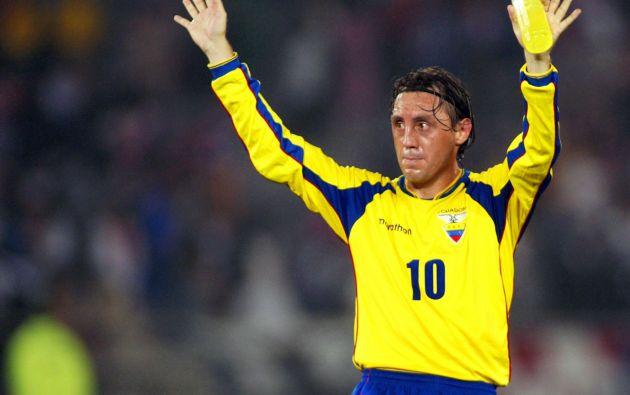 Alex Aguinaga comandó a la selección en los partidos de su primer mundial de fútbol, el de Corea - Japón 2002