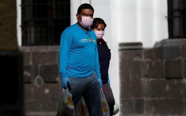 En Ecuador rige un Estado de excepción y de aislamiento domiciliario masivo y obligatorio. Foto: EFE.