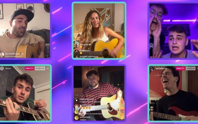 Varios artistas brindaron conciertos en vivo desde sus redes sociales..