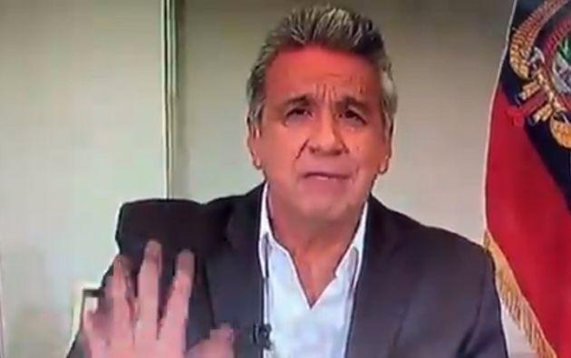 Moreno pidió a los ciudadanos no minimizar la emergencia sanitaria por el Covid-19. Foto: captura de pantalla