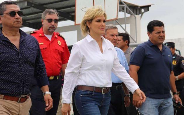 La alcaldesa de Guayaquil, Cynthia Viteri, se encuentra en cuarentena por contagio de COVID-19.