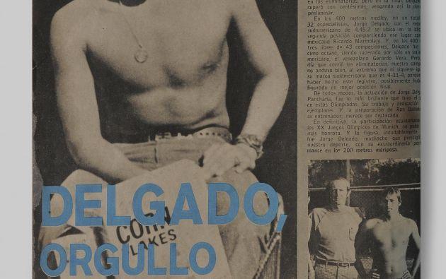 El 4to puesto de Jorge Delgado en Múnich 1972 fue la mejor participación ecuatoriana en la historia de los Juegos Olímpicos hasta Atlanta 1996.